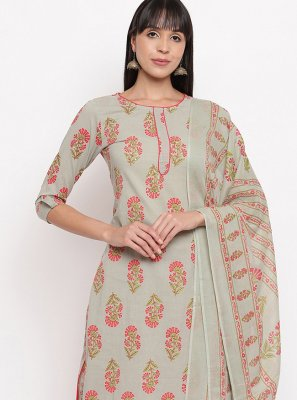 Cotton Printed Multi Colour Designer Salwar Suit