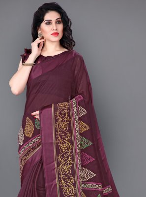 Cotton Printed Multi Colour Designer Saree