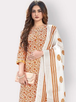 Cotton Printed Multi Colour Party Wear Kurti
