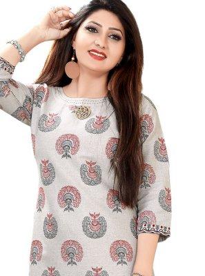 Cotton Printed Party Wear Kurti