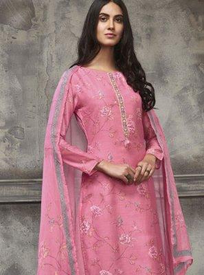 Cotton Resham Pakistani Salwar Suit