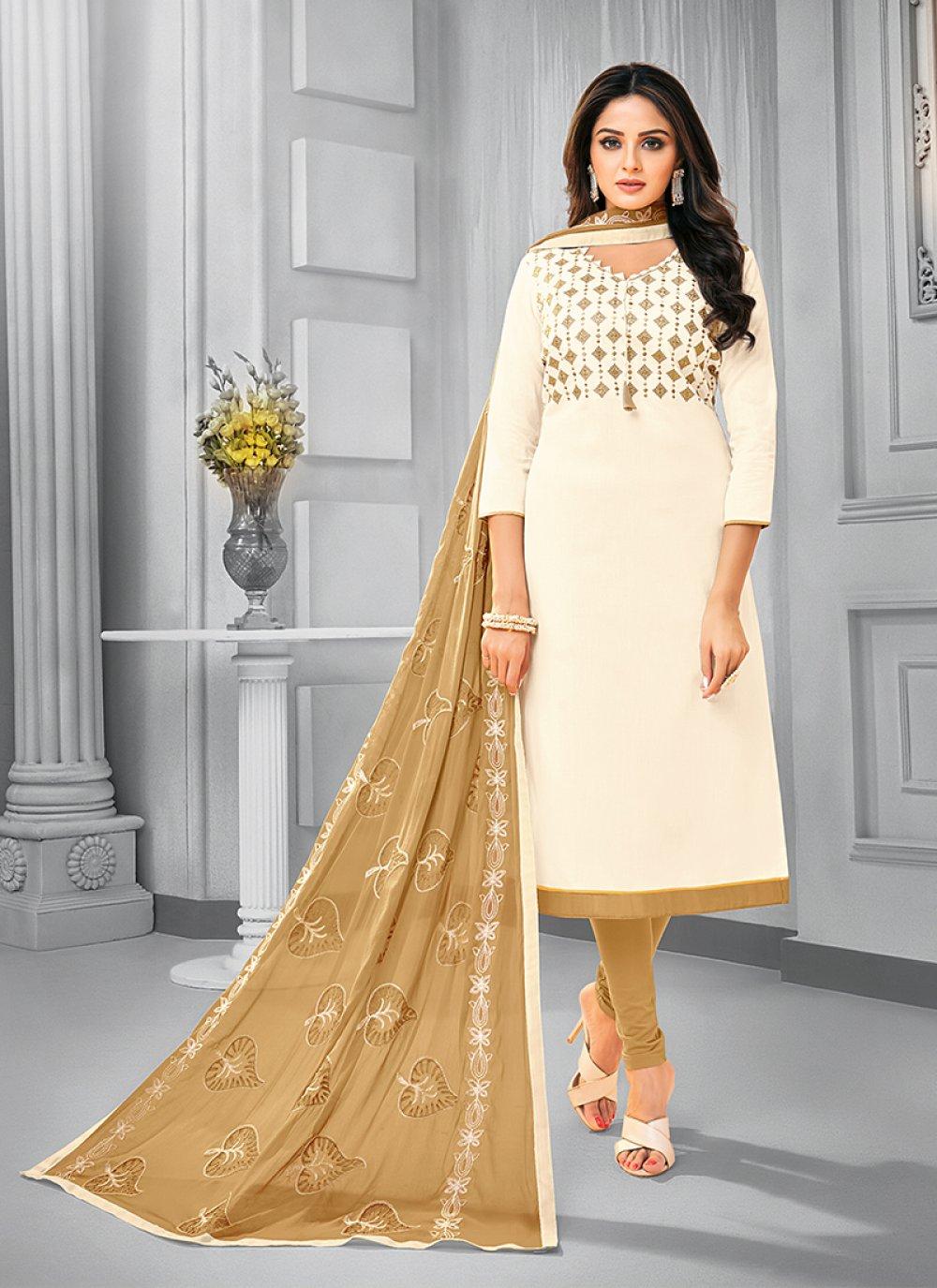 Cotton Resham Salwar Kameez