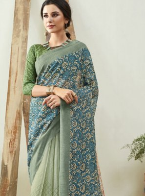 Cotton Saree in Blue