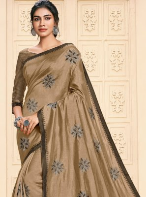 Cotton Silk Brown Saree