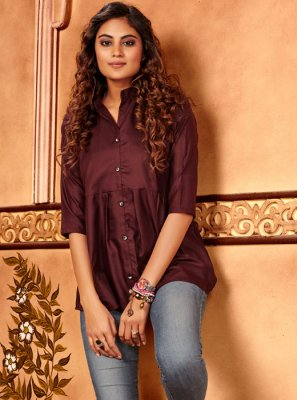 Cotton Silk Casual Casual Kurti