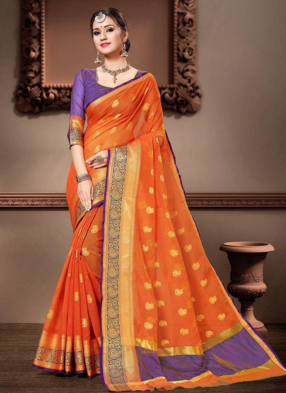 Cotton Silk Ceremonial Classic Designer Saree