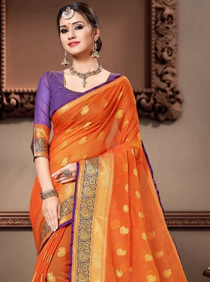 Cotton Silk Ceremonial Classic Designer Saree