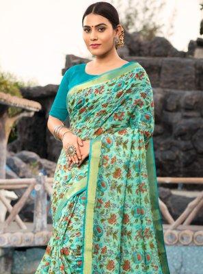 Cotton Silk Contemporary Saree in Multi Colour