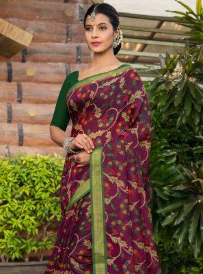 Cotton Silk Multi Colour Bollywood Saree