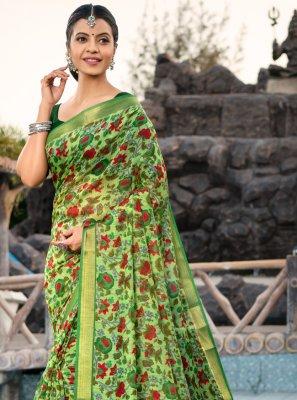 Cotton Silk Multi Colour Weaving Designer Saree