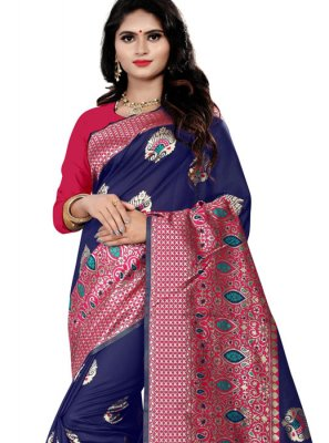 Cotton Silk Party Traditional Saree