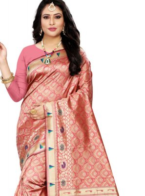 Cotton Silk Pink Classic Saree