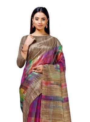 Cotton Silk Printed Casual Saree