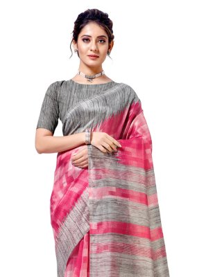 Cotton Silk Printed Casual Saree