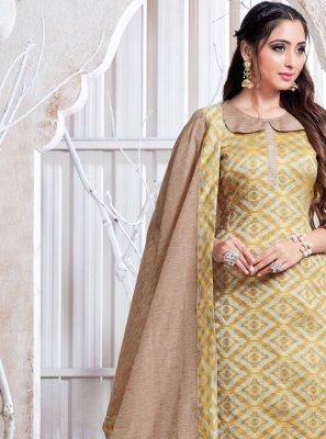 Cotton Silk Weaving Pant Style Suit