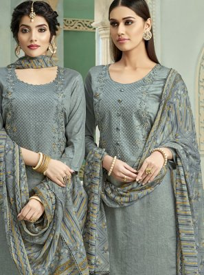 Cotton Thread Patiala Suit