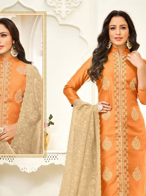 Cotton Thread Work Trendy Churidar Salwar Suit