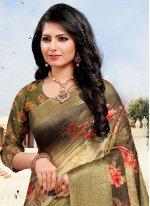 Cotton Weaving Multi Colour Designer Saree