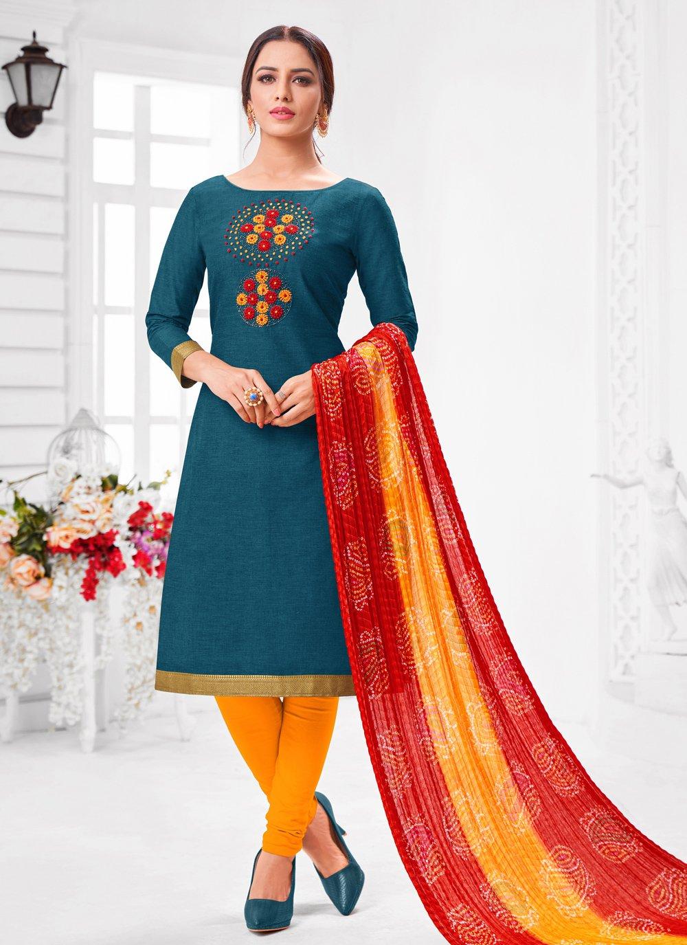 Cotton Zari Designer Suit