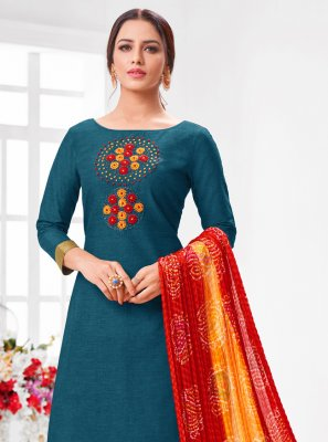 Cotton Zari Designer Suit