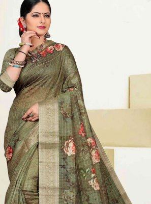 Cotton Zari Designer Traditional Saree