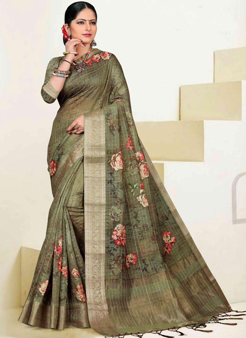 Cotton Zari Designer Traditional Saree