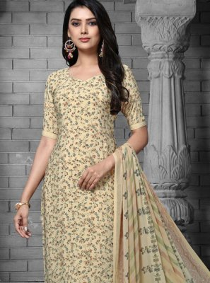 Cream Color Designer Salwar Suit