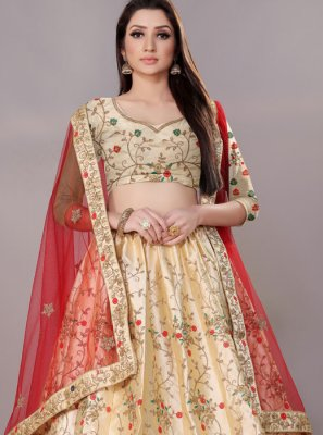 Cream Color Lehenga Choli
