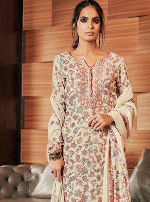 Cream Color Pakistani Salwar Suit
