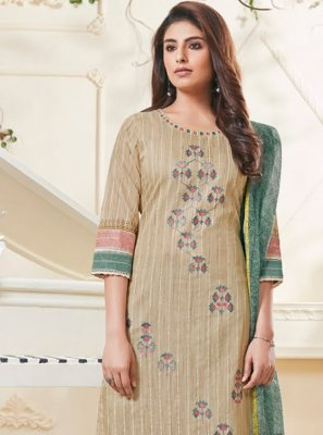Cream Color Salwar Kameez