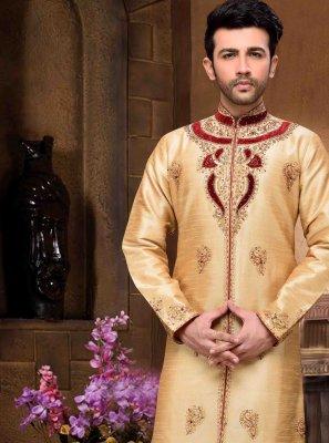 Cream Color Sherwani