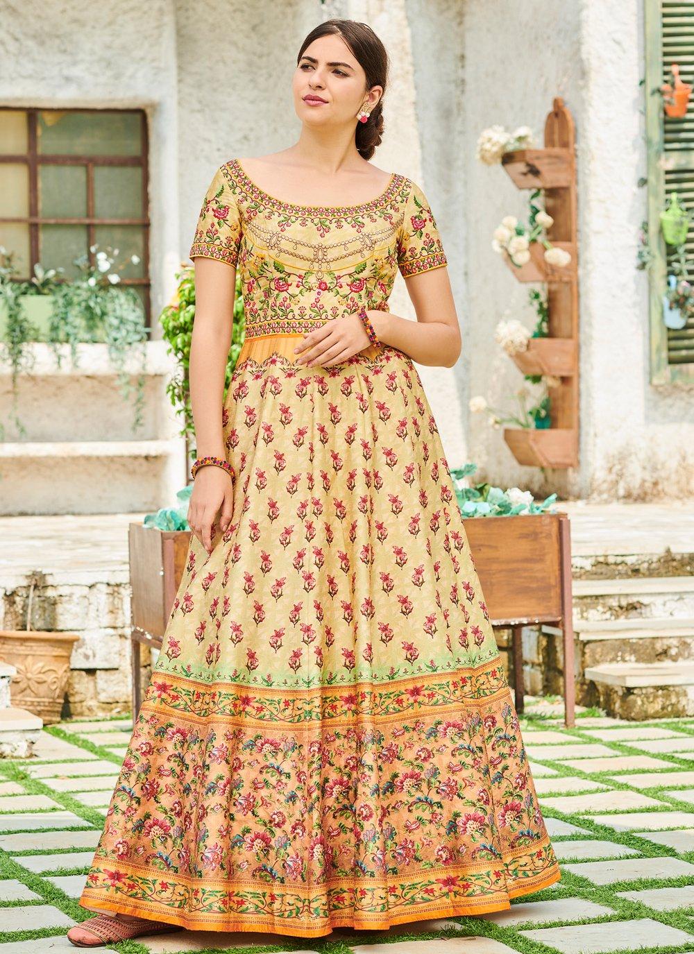 Cream Color Trendy Gown