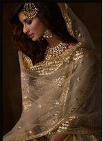 Cream Engagement Designer Salwar Suit