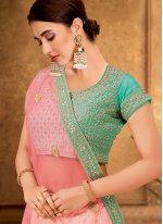 Cream Net Wedding Trendy Lehenga Choli