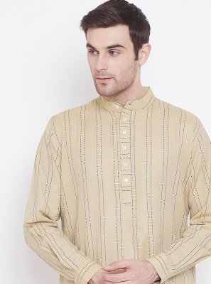 Cream Reception Cotton Kurta