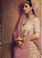 Cream Thread Bollywood Lehenga Choli
