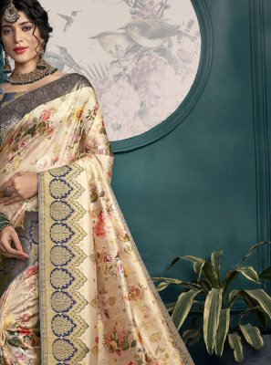 Cream Wedding Classic Saree