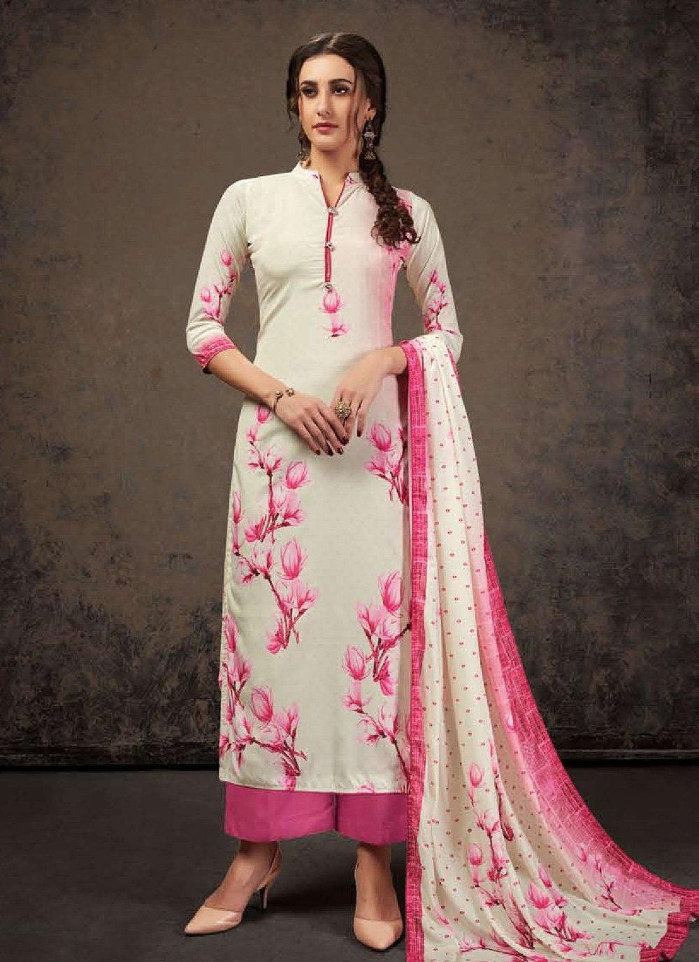 Crepe Silk Casual Salwar Suit