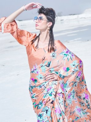 Crepe Silk Festival Trendy Saree