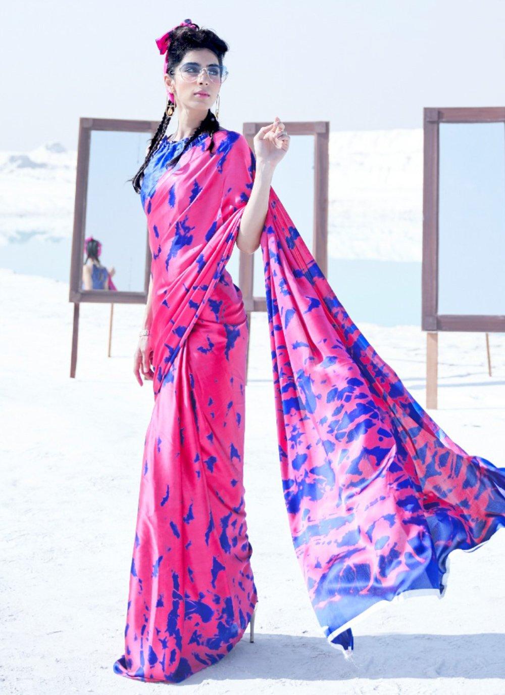 Crepe Silk Printed Classic Saree