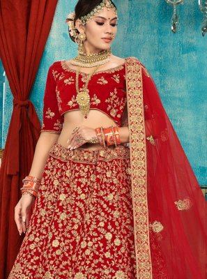 Designer A Line Lehenga Choli For Reception