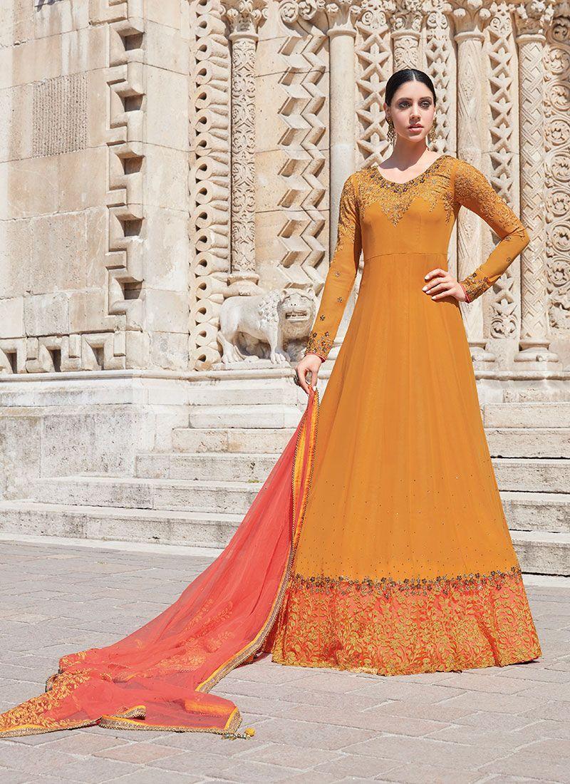Designer Floor Length Salwar Suit For Festival