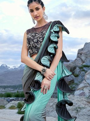 Designer Half N Half Saree For Festival