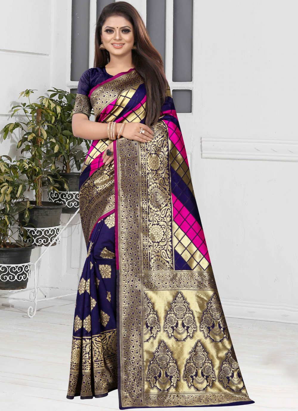 Designer Half N Half Saree For Sangeet
