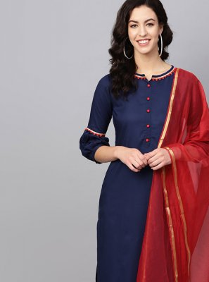 Designer Kurti Plain Rayon in Navy Blue