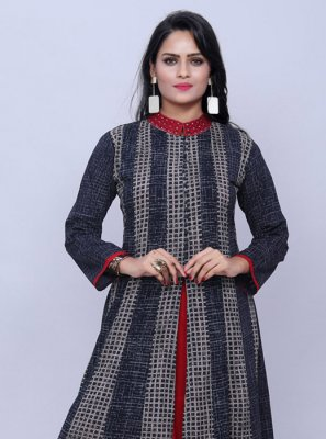 Designer Kurti Printed Cotton in Multi Colour