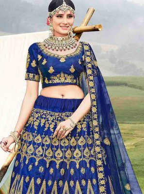 Diamond Banglori Silk Designer Lehenga Choli in Blue