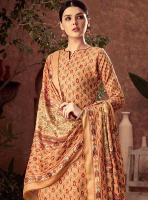 Diamond Cotton Yellow Palazzo Designer Salwar Kameez
