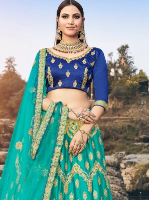 Diamond Green Silk Designer Lehenga Choli