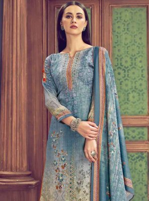 Diamond Multi Colour Designer Palazzo Salwar Kameez